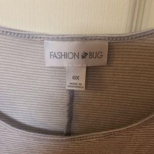 Fashion Bug Tops - Fashion Bug 0X Flowy Striped Top